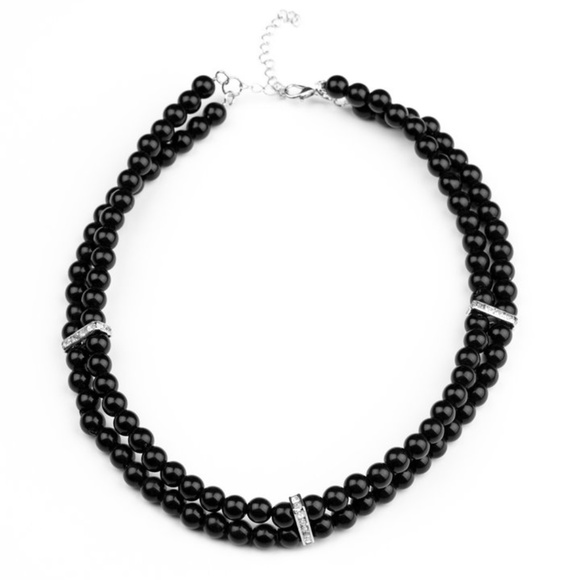 Black Choker Necklace & Earrings